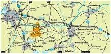 Karte mit der Gemeinde Hohenhameln©Gemeinde Hohenhameln